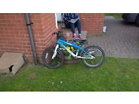 boys mountain bike 6 to 9 year old. Good condition only 1 year old.
