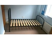 Single Bed Frame Metal Black Good Condition