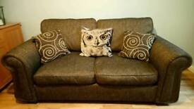 Three Seater Brown Luxury Sofa