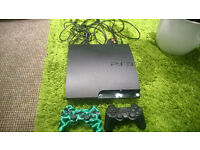 Playstation 3 Slim console + 2 pads + 22 games BARGAIN