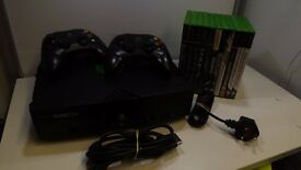 Original xbox with 2 controllers plus 10 games GWO 1 Months Warranty