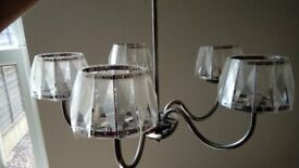 Matching set of 4 double wall lights and 1 ceiling light.