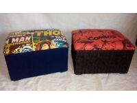 Marvel avengers storage/toy box/puffy foot rest/seat