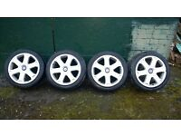 audi s3 alloy wheels with matching tyres 5 x 100 mk4 golf gti, bora, etc