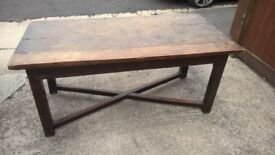 Fantastic Antique 18th Century English Oak Refectory Table-Very Good Condition