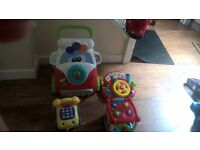 large bundle baby toys and walker