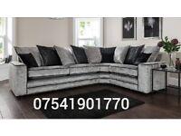 New Riva Crushed velvet corner sofa**Free delivery**