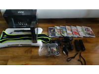 Black Nintendo Wii Console. Many extras and accessories