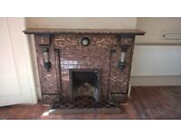 Old Victorian Fireplace for Sale