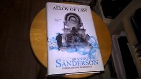 The Alloy of Law (Mistborn) by Brandon Sanderson, Rare 1st Edition UK Hardback - fantasy book