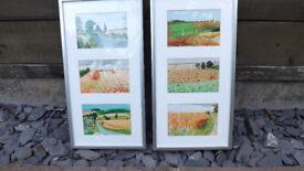 David Hockney Framed Midsummer East Yorkshire postcard prints