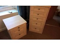 Pair of Maple Effect Chest of Drawers