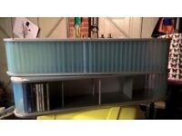 2 x CD Storage Units from IKEA (BLISTA) with sliding doors & fittings to attach to wall