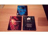 Blu-ray + dvd steelbooks.