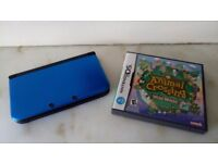 Nintendo 3DS XL with Animal Crossing game