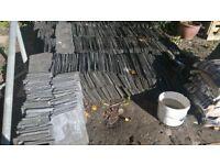 Salvaged Welsh roof slates