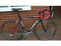 Ribble Sportive Racing Carbon Fibre framed road racing bike in Red White and Black 54cm medium