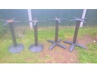 commercial catering / cafe / pub job lot 4 x cast iron bases delivery available