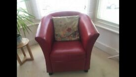 Lovely Red Arm Chair for Sale