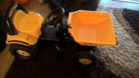 ride on pedal dumper truck good condition