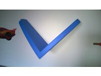 Two Ikea Mammut Blue wall shelves, from a smoke free home, in very good condition