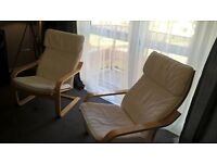 Set of two Ikea Poang Chairs