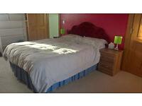 King size divan bed, mattress and head board