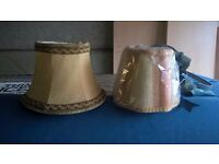 2 small lampshades 50p each