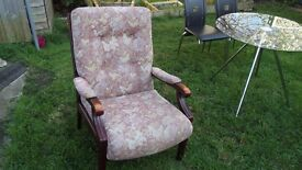 ARMCHAIR FIRESIDE CHAIR, VERY COMFORTABLE GOOD CONDITION
