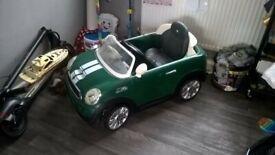 kids 6v mini cooper ride on car