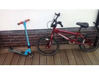Kids Stunt Scooter and BMX