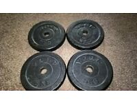 4 x 5kg York Cast Iron Weight Plates