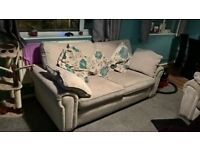 two sofas for sale 1 3 seater with double bed