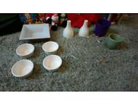 Joblot of China wear (candle holders sold)