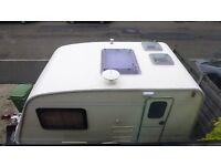 Damp free fixed bed 2 berth bailey ranger 380 lightweight fantastic touring caravan unique interior
