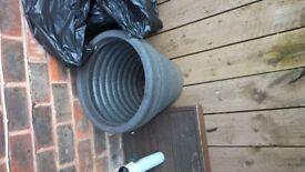 3 large plastic pots