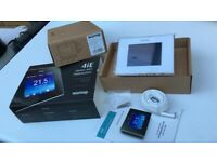 Warmup 4ie Digital Touchscreen Thermostat Cloud White -New.