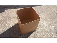 Boxes very strong cardboard boxes cube shape with lids. ideal business storage or more