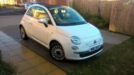 2012 Fiat 500 1.2 Lounge 3dr (start/stop) - 12Mo MOT+3 OWNERS+GLASS ROOF+BLUETOOTH/AUX+ALLOYS