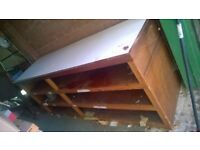 Large paper storage unit and work cutting table