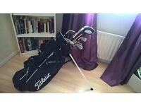 Assorted Gold Clubs and Bag for Sale