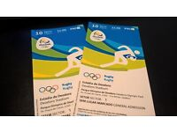 Two Tickets Olympics Rugby Tickets Men's Pool Round 10/08 11:00H