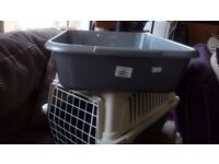 Cat Box Carrier and XL Litter Tray