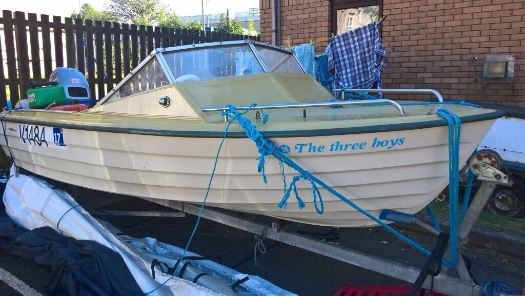boat 14 ft with 40 hp 2 stroke outboard | in Paisley, Renfrewshire | Gumtree