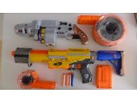 Nerf Gun Package - 2 guns, barrels and lots of amo