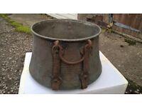 Large antique cooking pot