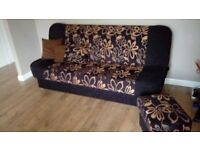 Sofa bed with starage and maching single stoool
