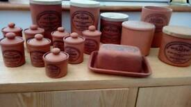 Terracotta kitchen containers