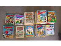 100s of British Comics (1980-1995) for sale (Beano, Dandy, Whizzer & Chips, Buster etc.)