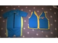 Swimming Float Suit & Vest, aged 2-3 years